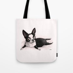 The Little Fat Boston Terrier Tote Bag