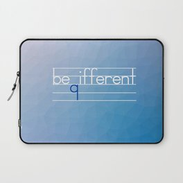 Be Different Typography Design Laptop Sleeve