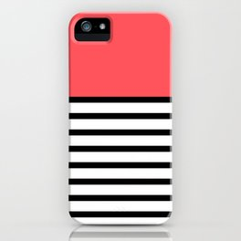 Black and White Stripe Infra Red Pattern iPhone Case