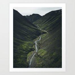 Northern Iceland Stream Art Print