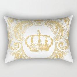 Gold Crown Rectangular Pillow