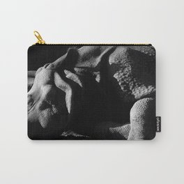 12,000pixel - 500dpi, High Quality Photograph - Sleeping Indian Rhinoceros - Black and white Carry-All Pouch
