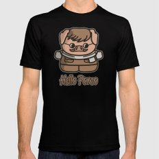Hello Porco Black Mens Fitted Tee MEDIUM