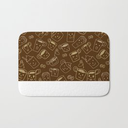 Coffee illustration pattern Bath Mat