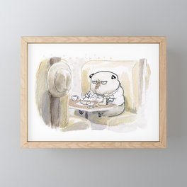 Fetch Ketchum: Lunch at Harry's Diner Framed Mini Art Print