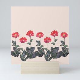 Spring, White, Painting ,Seamless ,Savings, Grass  Mini Art Print