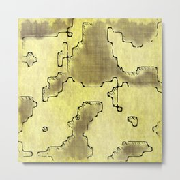 fantasy dungeon maps 8 Metal Print