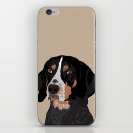 Maggie bluetick coonhound iPhone Skin