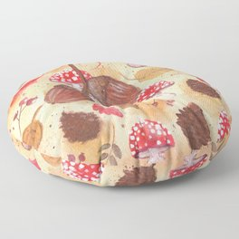 the forest in autumn Floor Pillow