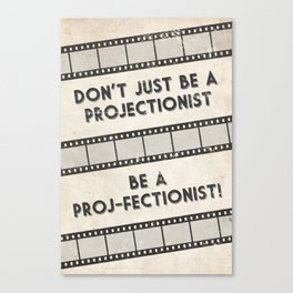 Projectionist Poster Canvas Print