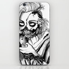 Smoking Zombie iPhone & iPod Skin
