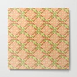 Autumn Diamond Lattice Metal Print