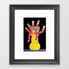 Hot Dog Vase Framed Art Print