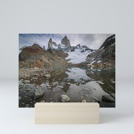Fitz Roy Glacier Lake Mini Art Print