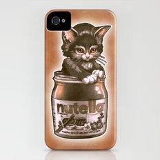 Kitten Loves Nutella iPhone (4, 4s) Slim Case