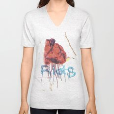 Bleeding Heart Graffiti Unisex V-Neck