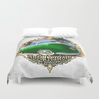 vw bus Duvet Covers featuring VW T1 Bus - Just cruisin' by GET-THE-CAR