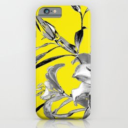 MOON - Pantone Colors of the Year 2021- Ultimate Gray & Illuminating iPhone Case