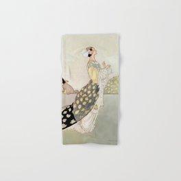 """Nightingale and Rose"" Fairy Art by Charles Robinson Hand & Bath Towel"