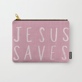 Jesus Saves x Rose Carry-All Pouch