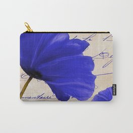 Coquelicots Blue Carry-All Pouch