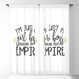 I'm Just A Girl Boss Blackout Curtain