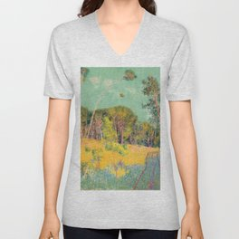 John Peter Russell - A clearing in the forest Unisex V-Neck