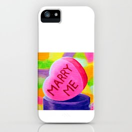 Marry Me Candy Heart Valentine's Day Lover Wife Sweetheart Girlfriend Jackie Carpenter Gift Pink  iPhone Case