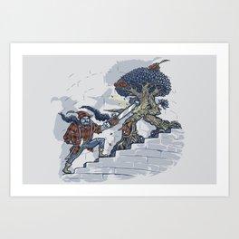The Never Ending Duel Art Print