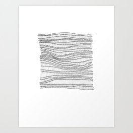 black on white Art Print