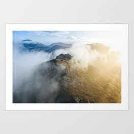 Aerial view of Mourne Mountains Art Print