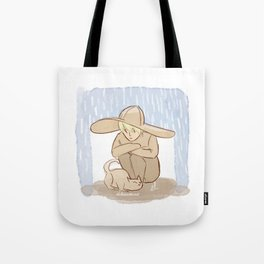 shelter from the rain Tote Bag