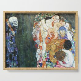 Gustav Klimt Death And Life Serving Tray