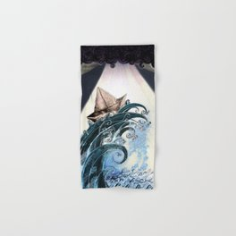 Origami Boat on a Wave Hand & Bath Towel