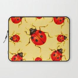 CREAMY YELLOW ART  RED LADY BUGS  DESIGN Laptop Sleeve