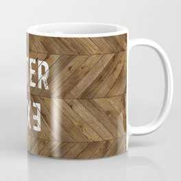 Enter Exit Wood Chevron Coffee Mug