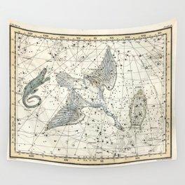 Constellations Lacerta, Cygnus, Lyra Celestial Atlas Plate 11 - Alexander Jamieson Wall Tapestry