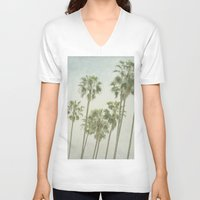 palm trees V-neck T-shirts featuring Palm Trees by Pure Nature Photos