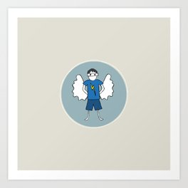 Guardian Angel Stevie Art Print