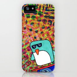 street surfing penguin  iPhone Case