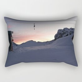 New day about to start at mountains Rectangular Pillow