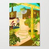nursery Canvas Prints featuring The Nursery by Monique Gabrielle
