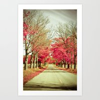 wanderlust Art Prints featuring Wanderlust by Olivia Joy St.Claire - Modern Nature / T