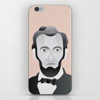 lincoln iPhone & iPod Skins featuring LINCOLN by armantas
