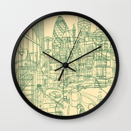 London! Cream Wall Clock