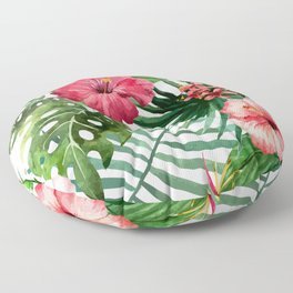 tropical hibiscus Floor Pillow