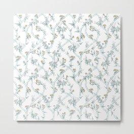 Indian Floral soft Metal Print