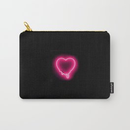 Neon Heart Carry-All Pouch