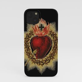 Sacred Heart Black iPhone Case