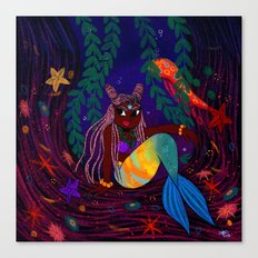 Tropical Mermadia Canvas Print